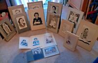 Lot of 16 Vintage B & W Photographs of People Early 1900's