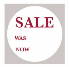 500 x Sale Was Now 40mm Round Self Adhesive Removable Price Tag Labels Stickers