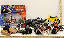 7 Pc Motorcycle Motorbike Lot Diecast & Plastic American Chopper Harley Suzuki