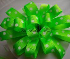 Berisfords 15mm Flo Neon Grosgrain Ribbon 4colours 4 Lengths 15mm X 2 Mtrs Green