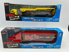 Maisto Highway Haulers Tractor Truck With Trailer & Car Hauler Diecast Lot 1/87
