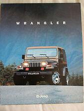 Jeep Wrangler brochure c1997