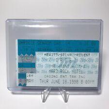 Creed Hard Rock Hotel Concert Ticket Stub Las Vegas Vintage June 18 1998