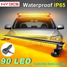 "44"" 90LED 270W Emergency Warning Double Side Strobe Flash Light Bar Amber Yellow"