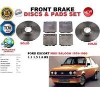 pour Ford Escort Mk II (ATH) BERLINE 74-80 ENSEMBLE DISQUES DE FREIN AVANT +