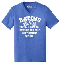 Mens Racing Other Sports Require One Ball Triblend V-Neck Racer Car Racetrack