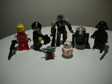 Star Wars Baby Yoda Mega Bloks Halo Marine Lego Police Racer Mixed Lot Figures