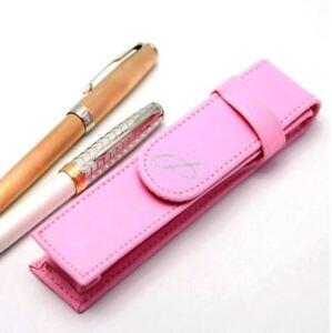 Parker PU Leather Flap Pen Case Pink Single