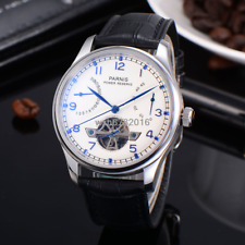 43mm Parnis White Dial Power Reserve Chronometer date indicate men's Watch 235