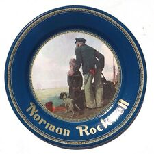 Vintage NORMAN ROCKWELL LOOKING OUT TO SEA METAL PLATE DESTINY - NOS