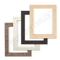 Shabby Chic Rustic/ Wood Grain Picture frame photo frame  Black white Walnut