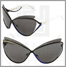 CHRISTIAN DIOR AUDACIEUSE 1 Black Gold White Blue Cat Eye Sunglasses 4CHY1 Women