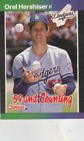 FREE SHIPPING-MINT-1989 Donruss #648 Orel Hershiser Los Angeles Dodgers Baseball
