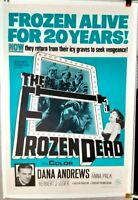 poster on linen The FROZEN DEAD 1966 LINENBACKED US1sht Dana Andrews NAZI ICIES!