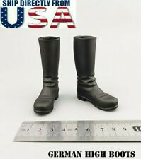 """1/6 German WWII Soldier Military Boots HOLLOW For 12"""" Hot Toys Male Figure USA"""