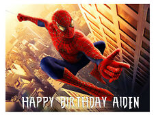 SPIDERMAN PERSONALISED EDIBLE CAKE TOPPER A4 WAFER PAPER/ICING SHEET