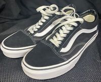 Vans Old Skool Black/White Suede/Canvas Sneakers MEN 7 WOMEN 8.5