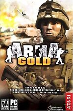ARMA GOLD THE ULTIMATE COMBAT SIMULATION!  DVD FOR PC. SHIPS FAST AND SHIPS FREE