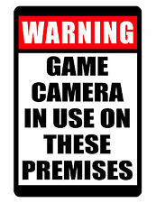 NO TRESPASSING Sign Game Camera In Use DURABLE NO RUST ALUMINUM FULL COLOR