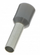 BizLine BOOT LACE PINS 2.5mm² 100Pcs Crimp Connection, Nylon Insulation GREY