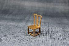 Vintage Antique DollHouse Miniature Furniture Gold Metal Tootsietoy Chair