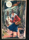 Halloween Vintage Board Sign Witch, NEW hard to find Moonlight & Roses