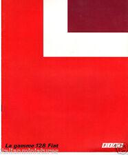 Fiat 128 French Language Canada Brochure Prospekt Catalog Sport Sedan Familiale