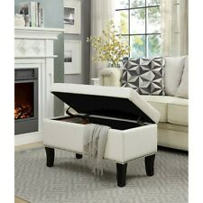 Convenience Concepts Designs4Comfort Winslow Storage Ottoman, Ivory - 161322W