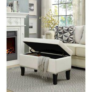 Convenience Concepts Designs4Comfort Winslow Storage Ottoman, Ivory - 161322W