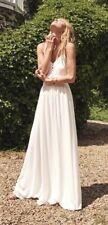BNWT Sezane White Silk Bridal Wedding Maxi Dress Size 38 10 RRP £260