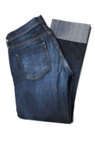 Citizens of Humanity Womens Mid-Rise Crop Straight Leg Jeans Blue Cotton Size 27