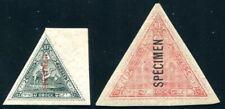 OBOCK 1893 Yvert 45-46 * mit AUFDRUCK SPECIMEN (S5273