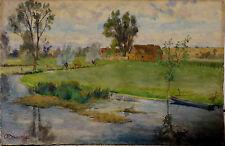 Aquarelle Originale Braunwald St Avit les Guépières 1942 Eure-et-Loir