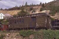 COLORADO & SOUTHERN Railroad Antique Passenger Car Original 1980 Photo Slide