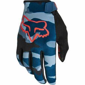 New Fox RANGER Mountain Bike Cycling Gloves Blue Camo X-Large  27172-360-XL