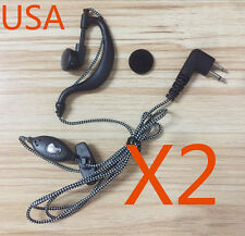 2x Headsets/Earpiece For Motorola Radius Radio P1225LS P110 GP300 GP350 2 Pin