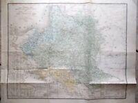 Mappa Antica Originale a Colori Polonia periodo 1835-1845