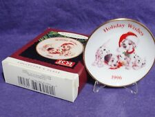 hallmark ornament Holiday Wishes 101 dalmatians collector plate 1996 QXI6544