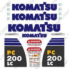 Komatsu PC200LC-8 Decal Kit Excavator Sticker Replacements - 7 YEAR VINYL!