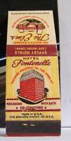 Rare Vintage Matchbook Cover Hotel Fontenelle Health Omaha Nebraska 400 Rooms A1