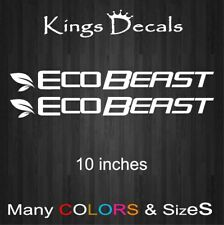 2x ECOBEAST Decal ecoboost eco boost Sticker Focus window Mustang F150 Ford