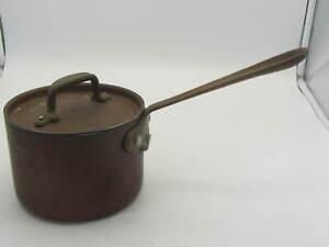 Vintage All-Clad COP*R CHEF 2 quart Copper & Brass Sauce Pan With LID