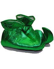Green Adult Elf Shoes Santa Claus Helper Christmas Costume Cloth Shoes