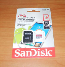 SanDisk Ultra 16GB microSDHC UHS-I Card with Adapter