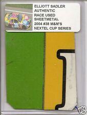Elliot Sadler authentic race used sheet-metal #38 M&M car raced in 2004