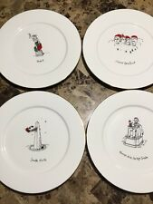 Lot of 4 Daytons 1st Edition Merry Masterpieces Dinner Plates Jingle Bell Rock +