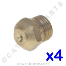 PACK OF 4 x ELECTROLUX 0A2076 GAS BURNER INJECTOR JETS M10 THREAD ZANUSSI BARON