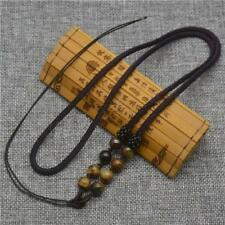Nylon Brown Necklace Natural gemstone TIGER EYE, Glass Seed Beads