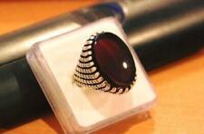 Mens Kabadi Black Yemeni Aqeeq Ring 925 Silver Ring Blood Red Color Shia Rings