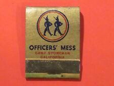 *** Officers' Mess Matchbook  - Camp Stoneman / California  Full & un-struck!